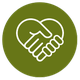hands shaking heart icon